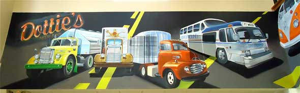 Ray Harvey mural Midwest Truck Port Cuba, MO