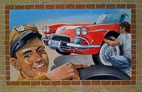 My Place Tires Mural Cuba, MO