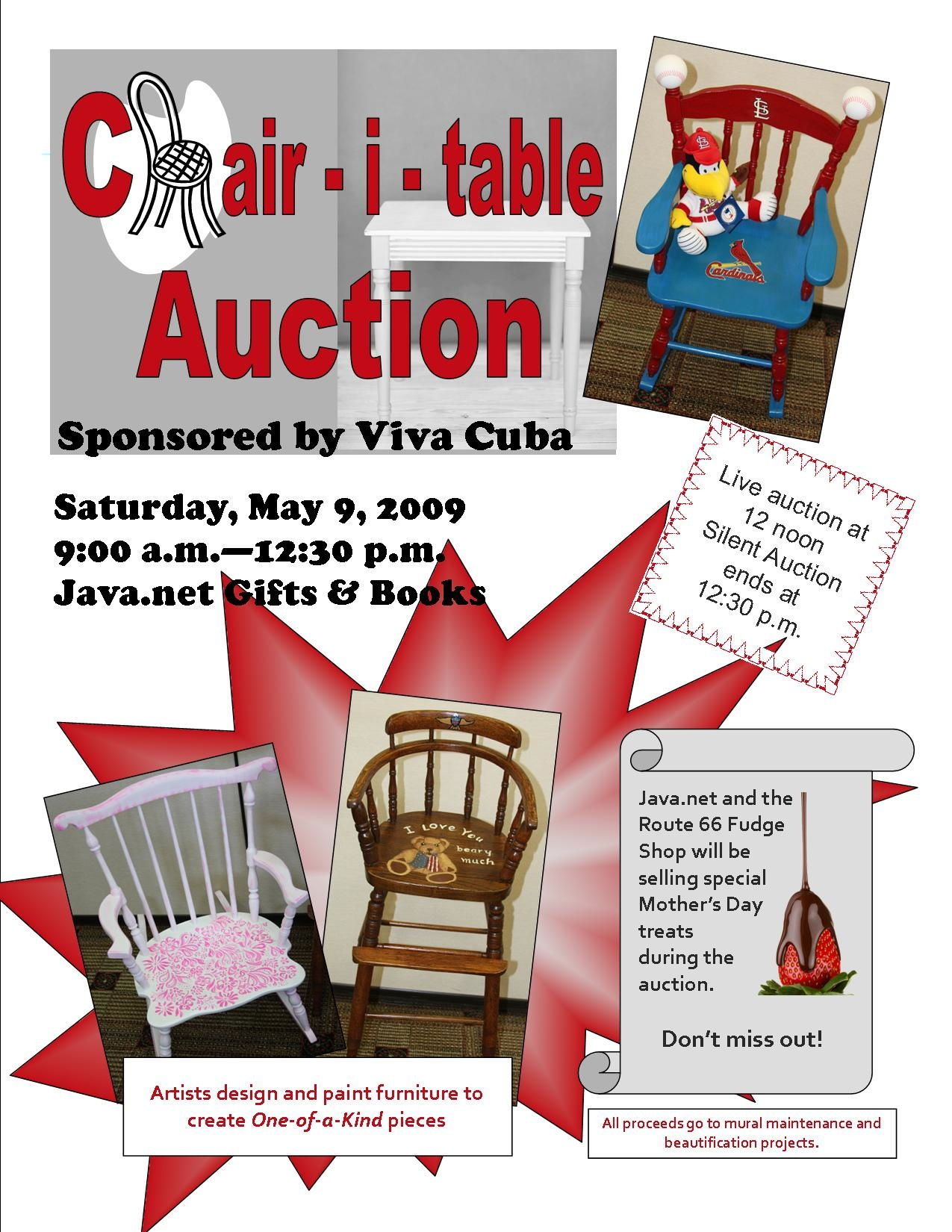 chair-i-table-auction-flyer-2009 - Cuba, MO - Route 66 Mural