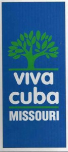 The original Viva Cuba logo was used on banners, t-shirts, city vehicles and symbolized Viva Cuba's beautification efforts.