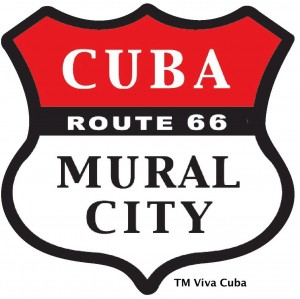 Viva Cuba designed this logo to symbolize the city's involvement with the mural program.