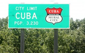 "Cuba was designated ""Route 66 Mural City"" by the Missouri legislature."