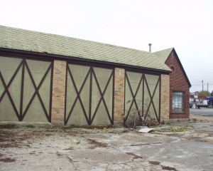The old garage bays were not the attractive site that they are today.