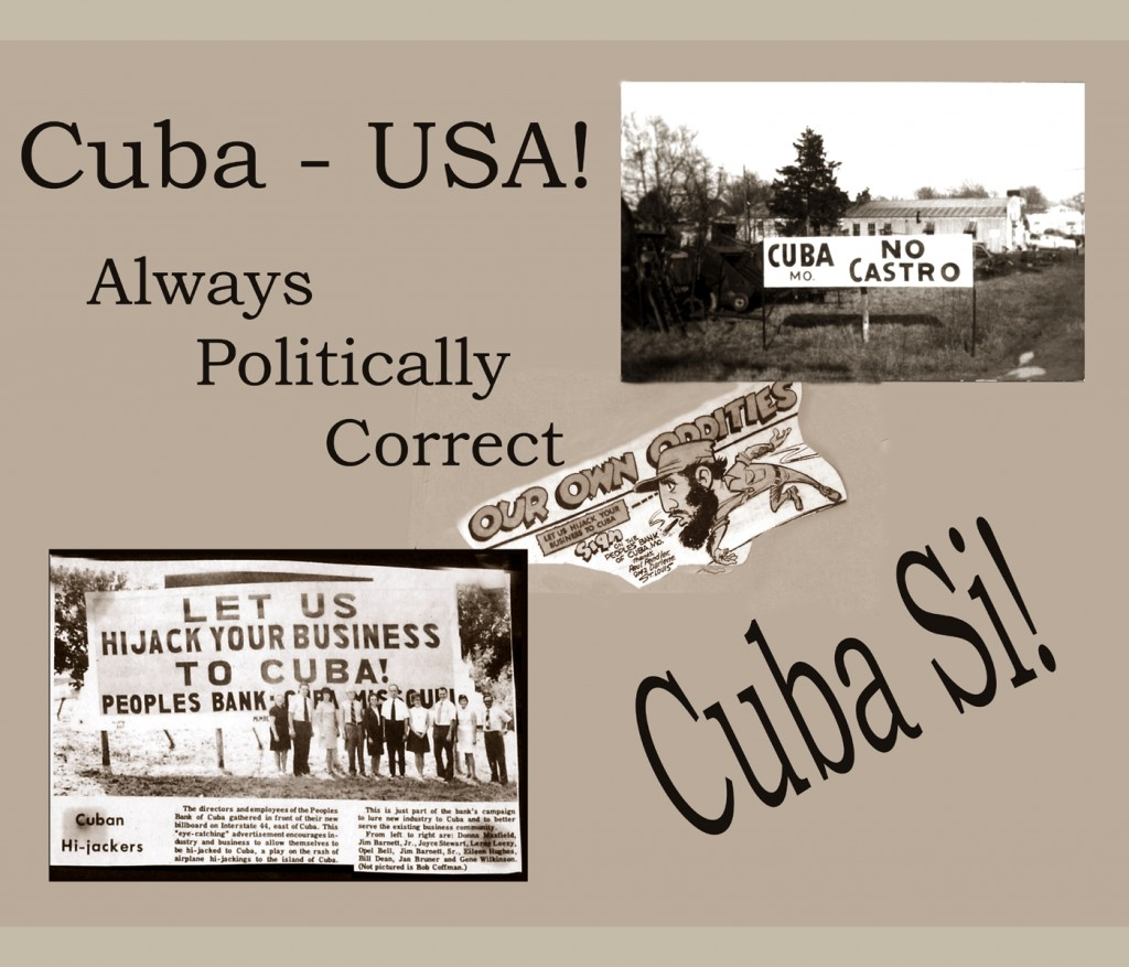 This historical compilation of photos show a Cuba MO that played up its name's association with the island of Cuba.