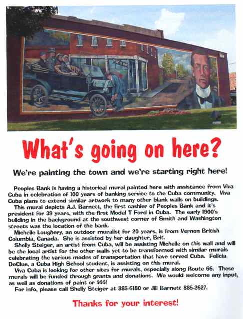 This is original information that was published at the time of the first mural in 2001.