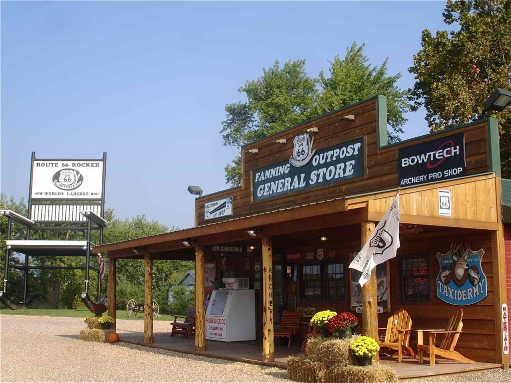 The Fanning Outpost General Store looks attractive on this fall day.