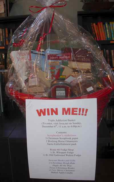 A drawing for a  basket of goodies takes place Dec. 6 at Java.net.