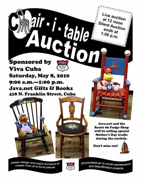 Chair-i-table auction flyer 2010 Cuba MO