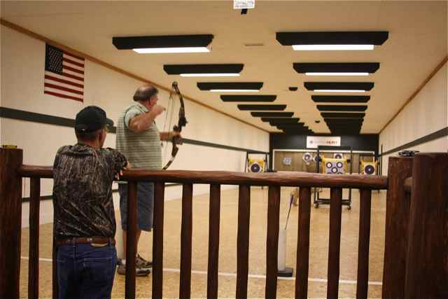 The indoor archery range is popular and often tourists will find their way there to observe the action.