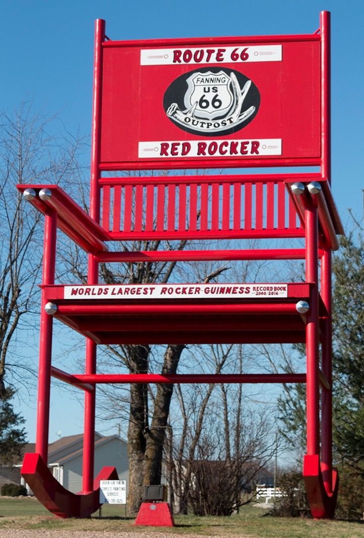 Pleasing Route 66 Landmark Guinness Worlds Largest Rocking Chair Alphanode Cool Chair Designs And Ideas Alphanodeonline