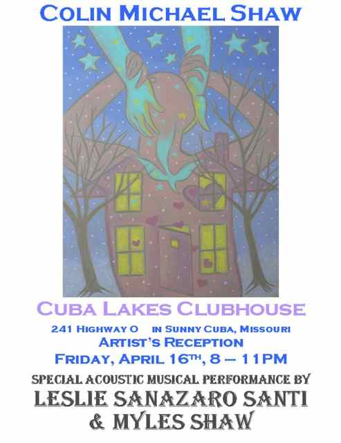 Art, music, and the beautiful Cuba Lakes Club House set the scene for a good time.