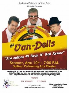 The Sullivan Performing Arts Center welcomes the Van-Dells for a rock n roll good time.