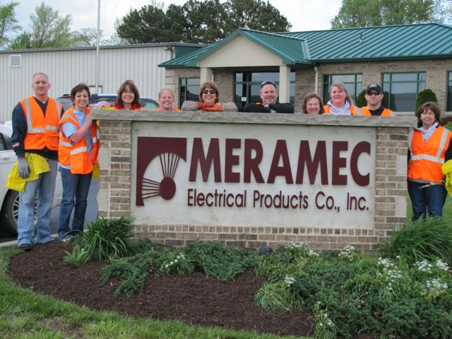 Meramec Electrical Products employees came out for a cleaner Cuba.