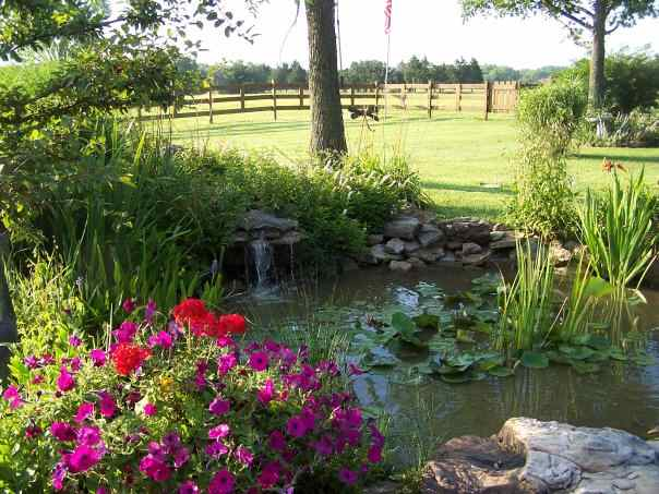 Some people like to build a water treatment into their landscape design.