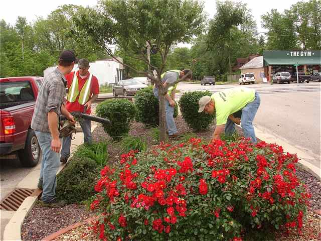 Recently the Korte Landscaping crew did a clean up on these planted areas by the tracks on Smith Street.