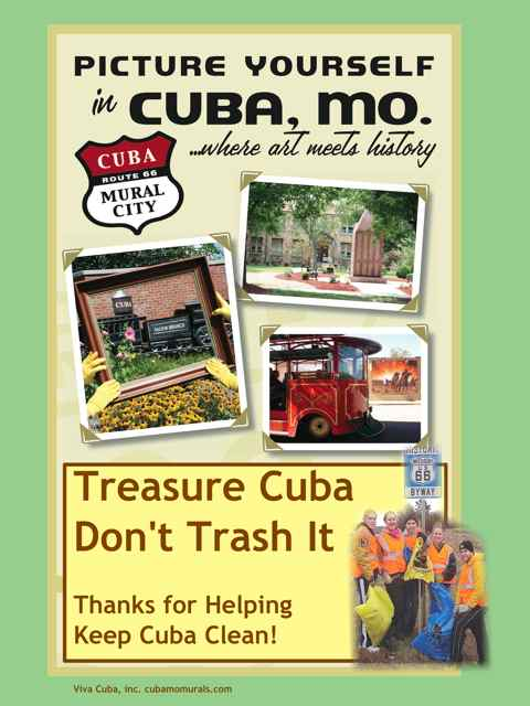A new Viva Cuba poster for Keeping Cuba Clean is available for posting at your business.