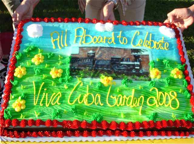It took a lot of helping hands to make a celebration with a train cake possible.