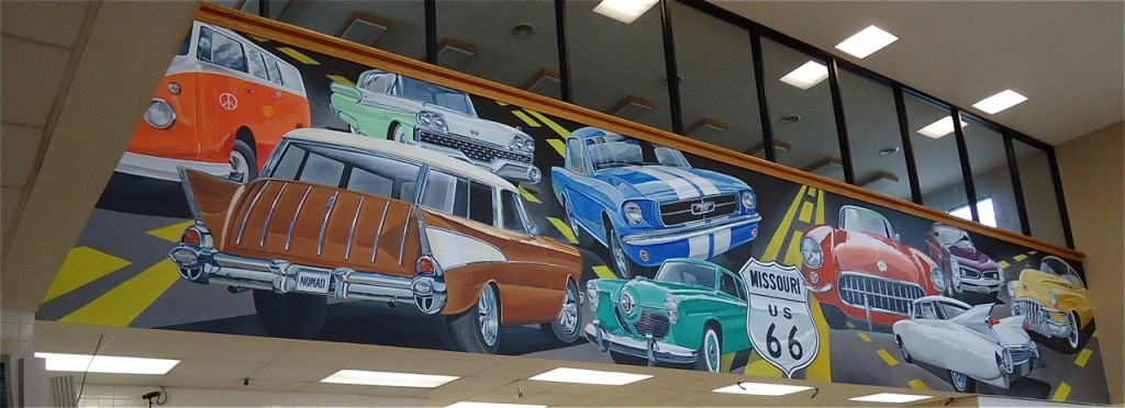 Ray Harvey painted his own car show.