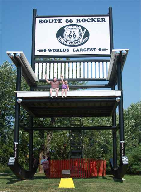 Stupendous Stories From The Worlds Largest Rocking Chair On Route 66 Alphanode Cool Chair Designs And Ideas Alphanodeonline