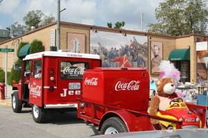 Bob Mullen's Coca-cola jeep is an eye catcher.