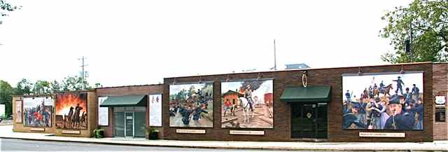 Buchanan Street Civil War Murals