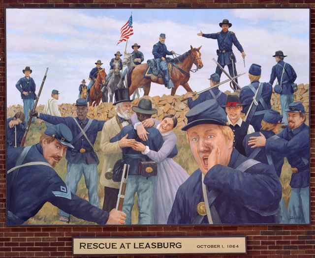 Leasburg panel of Civil War Murals