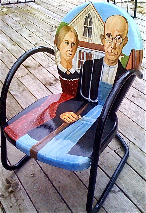 Cuba, Missouri Mural City Gothic Chair
