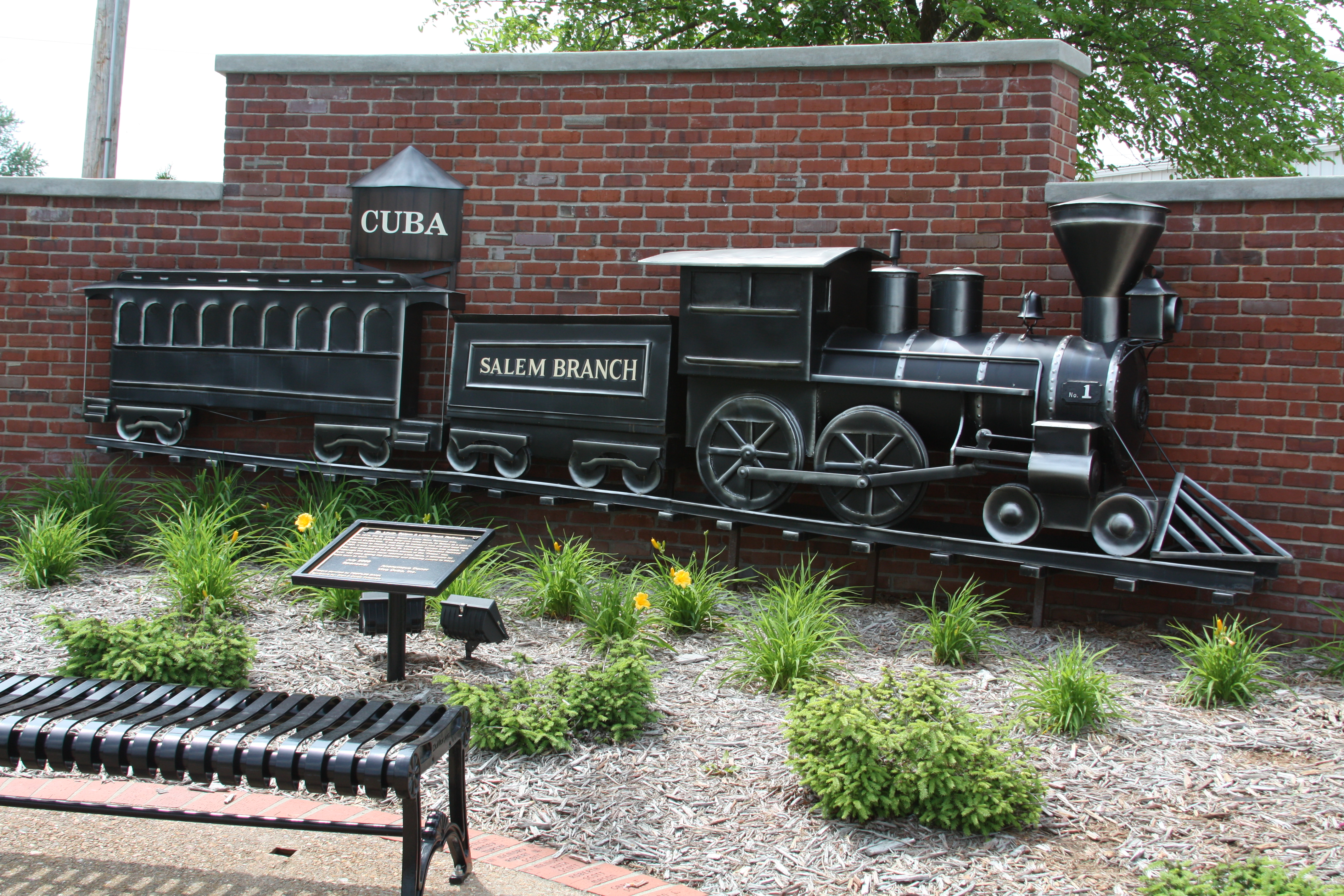 1873 train replica Cuba, Missouri