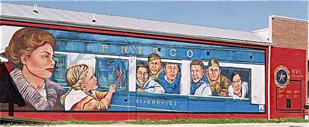 Blue Bonnet Train Mural
