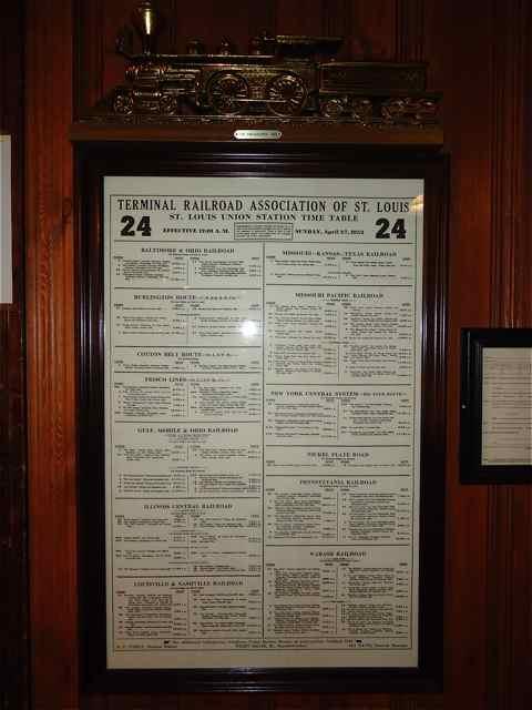 Cuba, Missouri Railroad schedule