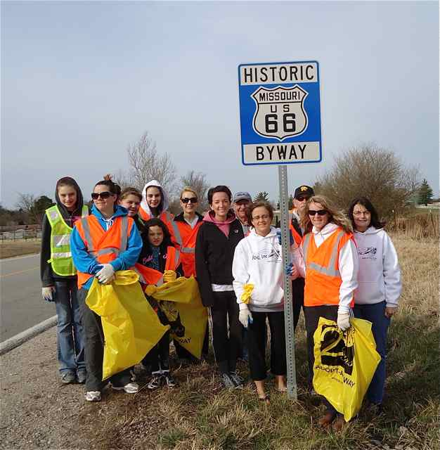 Route 66 Trash Pickup by JOG,inc. Cuba, Missouri
