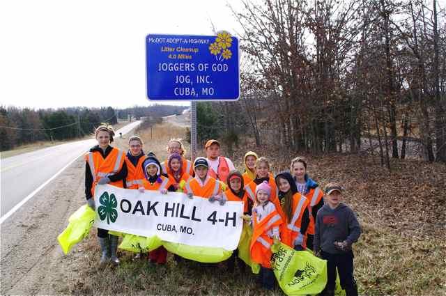 Oak Hill 4-H Club Cuba Missouri