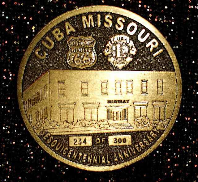 Midway Sesquicentennial coin Cuba, Missouri