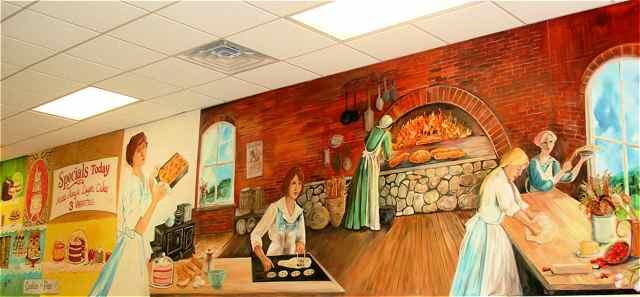 Nixon-Krovicka's bakery mural Cuba, Missouri
