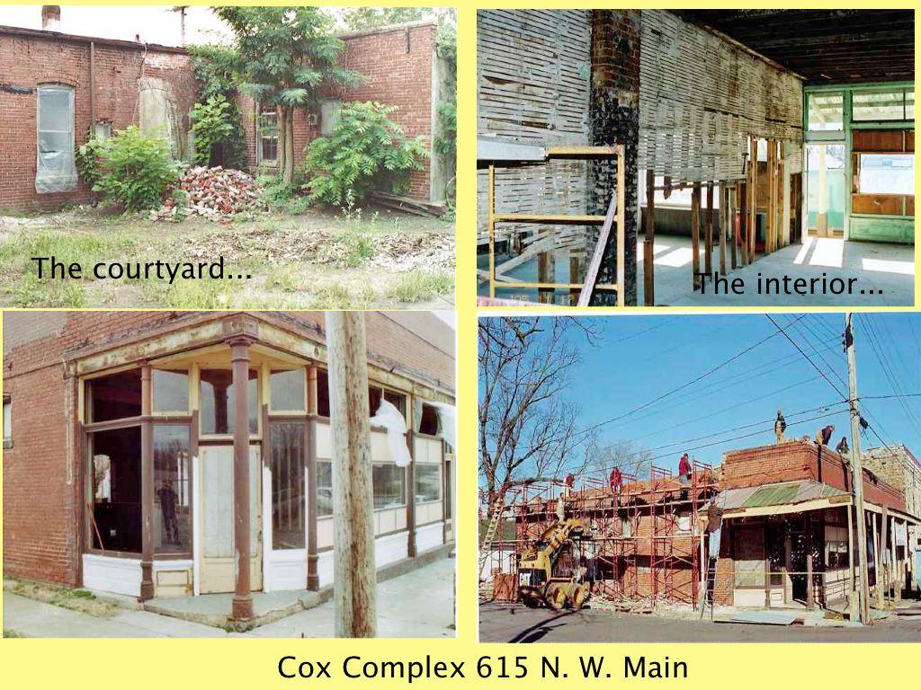 Cuba, Missouri Cox Complex Restoration