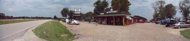 Panoramic shot of the 66 Outpost Cuba, Missouri