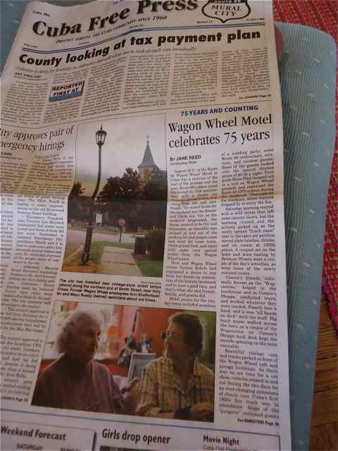 Cuba Free Press 75th Wagon Wheel 75th Anniversary Article