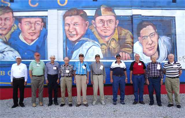 WW II Veterans at the Gold Star Boys Mural Cuba, Missouri