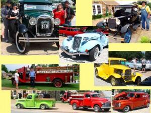 Classic cars at the Wagon Wheel Motel Cuba, MO