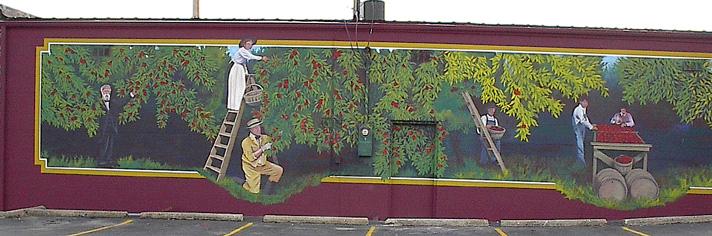 Cuba, Missouri apple mural