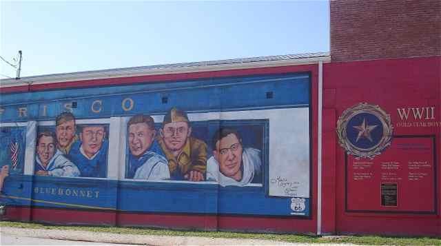 Gold Star Mural Cuba, Missouri