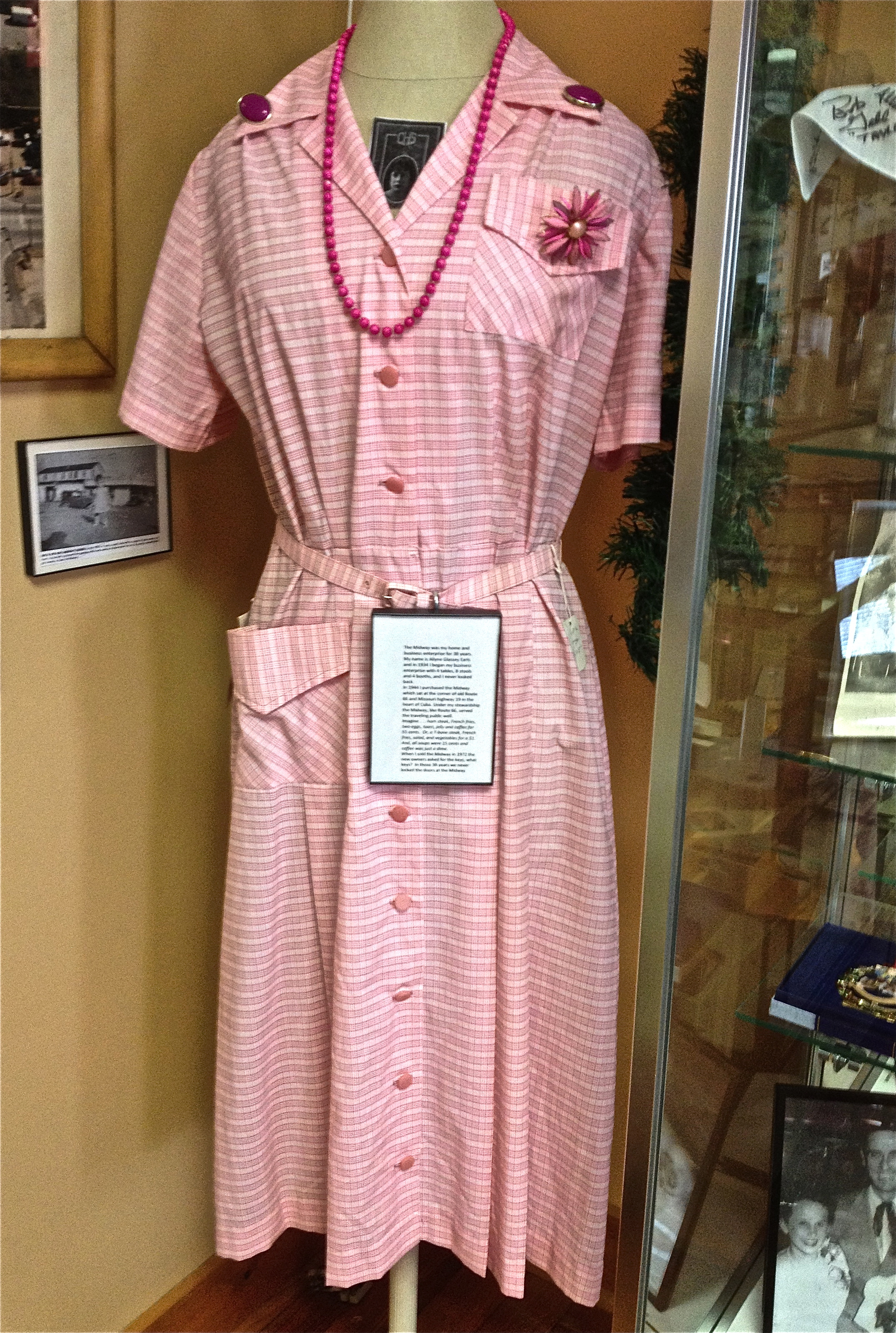 Cuba History Museum Allyne Earls uniform