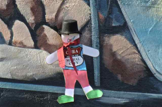 "Flat Stanley in Cuba Missouri ""Route 66 Mural City"""