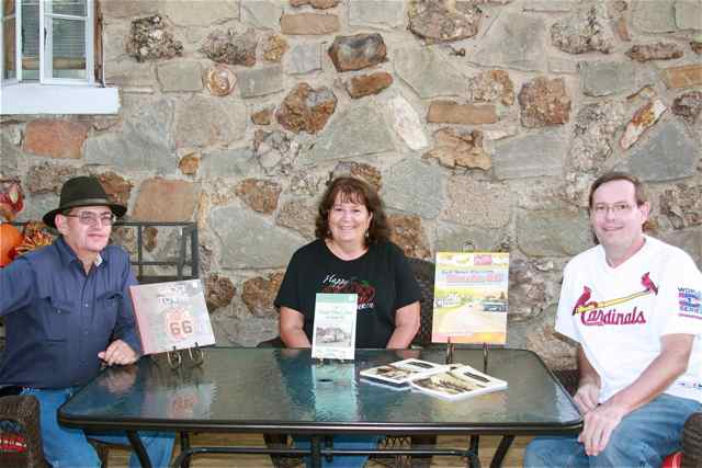 Authors Jim Hinckley, Riva Echols, Joe Sonderman at the Wagon Wheel Motel