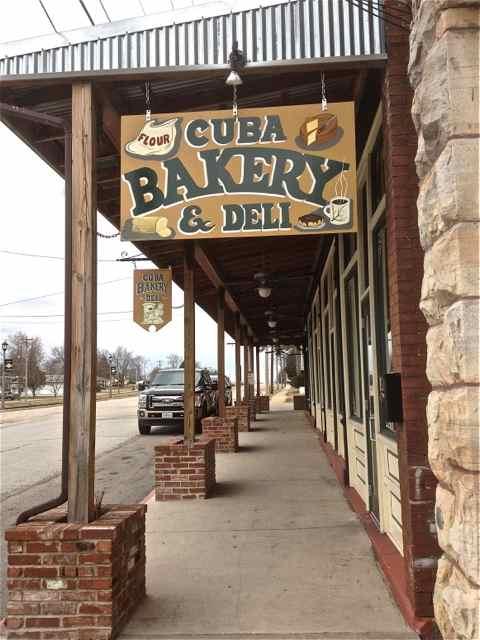 Cuba, Missouri Bakery & Deli Sign