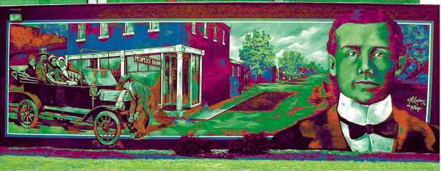 AJ Barnett mural turns green...Cuba, MO