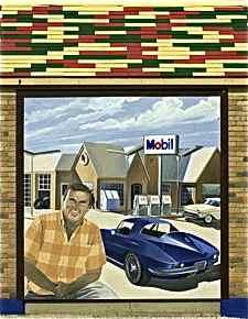 Bill Wallis mural panel Cuba, Missouri