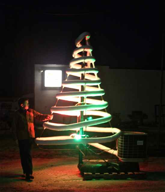Chris Palmer's innovative Christmas tree made from AC coils