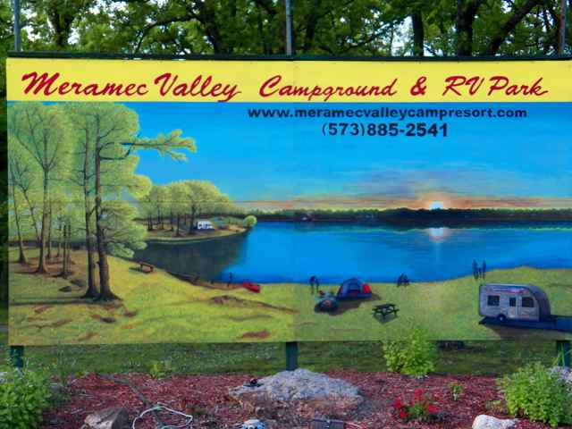 Meramec Valley Mural Sign