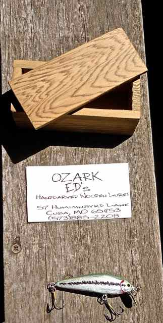 Ed's original Ozark Shiner lure served as an inspiration for his larger lure.